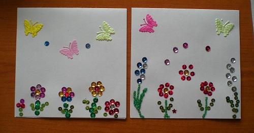 Картины из паеток на клею